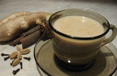 Имбирный чай с молоком.