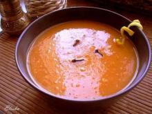 Морковный суп-пюре с имбирём и лимоном