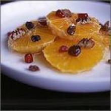 Апельсиновый десерт с имбирем и орехами
