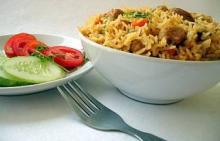 Рис с овощами и имбирем