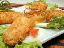 Жареная рыба с имбирём